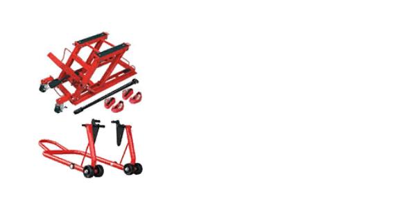 Motociklu pacēlāji<br> Statīvi
