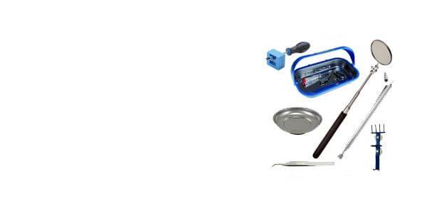 Magnētiski <br>elastīgi rokturi<br>spoguļi<br>pincetes
